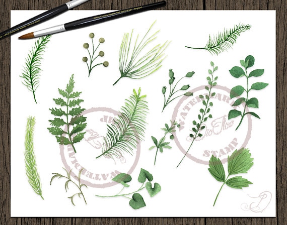 Wood clipart green forest Woodland Leaves Clip Leaves Leaf