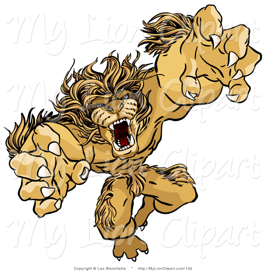 Ferocious clipart Of Clipart Ferocious of Lion