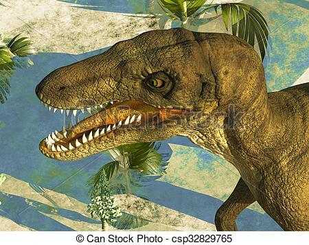 Ferocious clipart Stock dinosaur Illustration  head