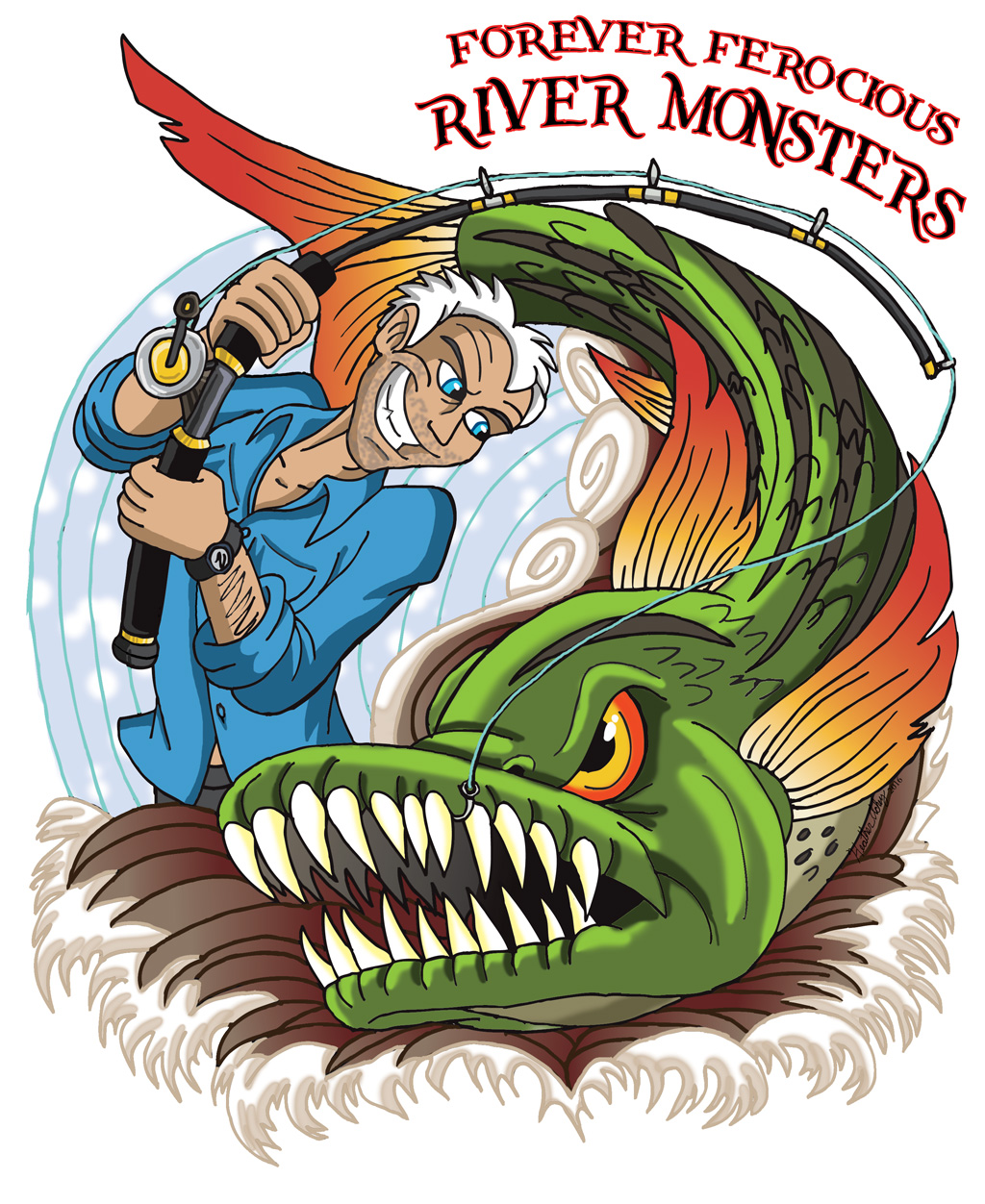 Ferocious clipart his load Monsters by Ferocious River on