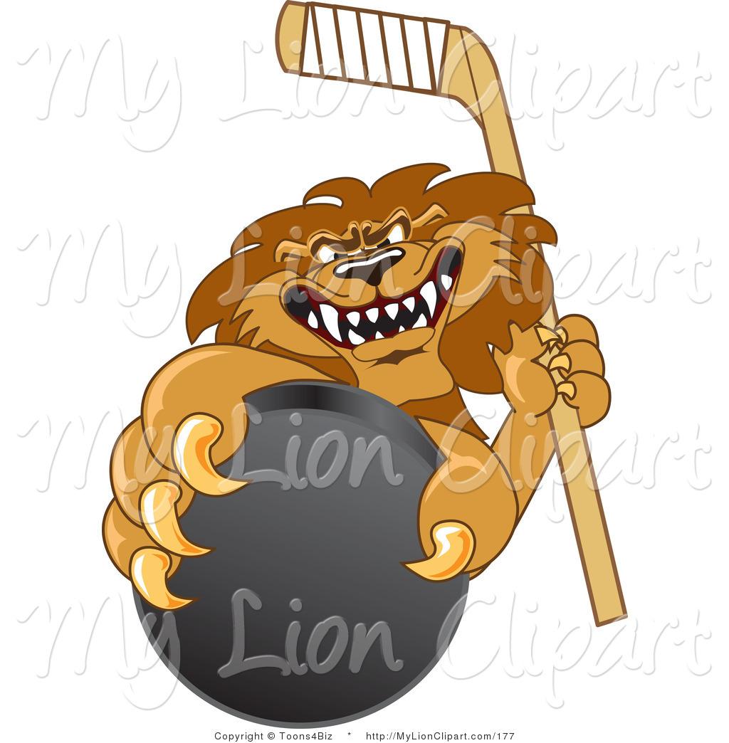 Ferocious clipart lion claw  Lion Mascots School