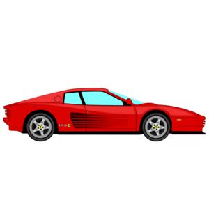 Ferrari clipart In Clipart Testarrosa Car Side