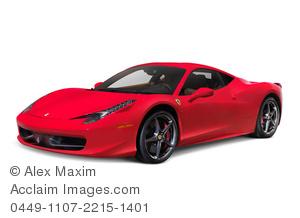 Ferrari clipart  car ferrari italia sports