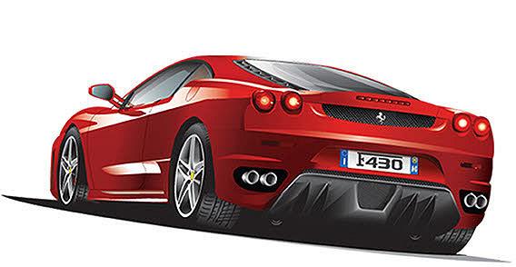 Ferrari clipart Free! Download ferrari Vector clipart