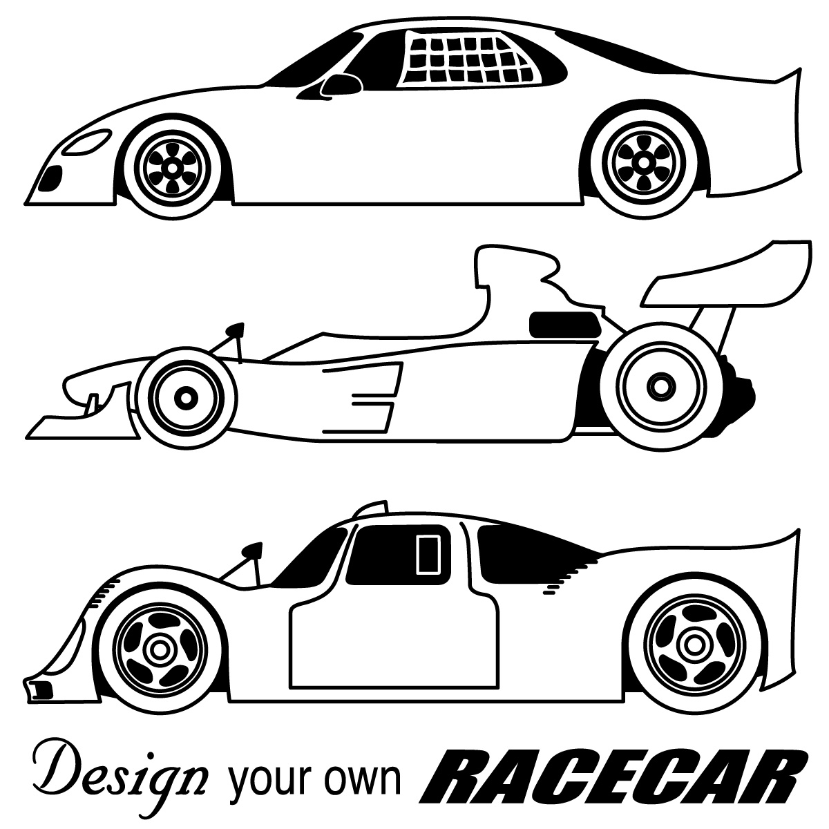 Drawn race car outline Free  Clip Cartoon Cars
