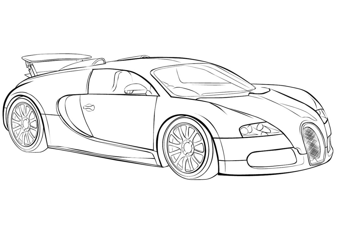 Ferrari clipart bugatti Bugatti Malvorlage Zum Ausmalbilder