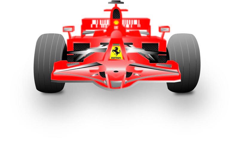 Racer clipart ferrari ClipartLogo 974 Ferrari com Front