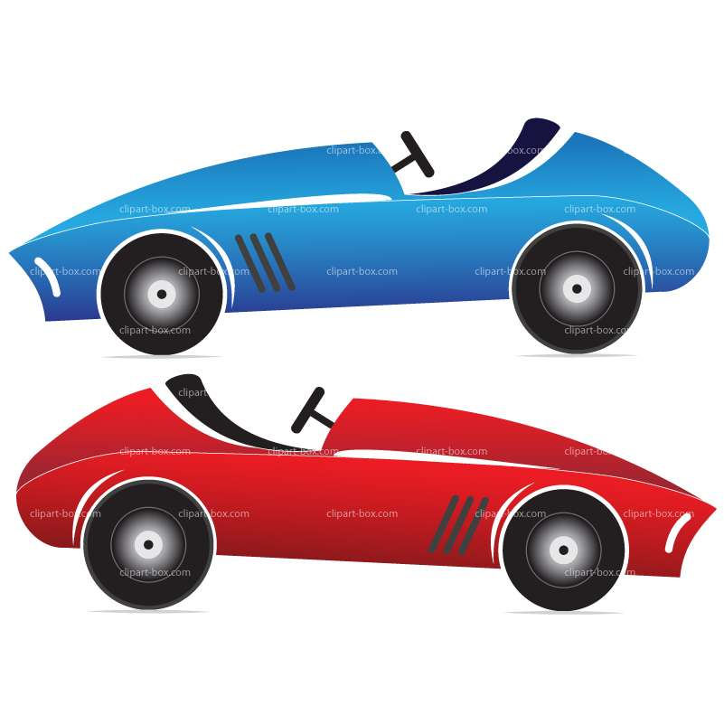 Blue Car clipart racing car Free Toy of 4vector car