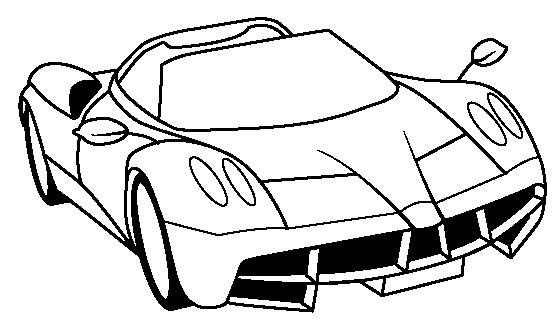 Ferarri clipart colouring page Pages Huayra Coloring car Ferrari