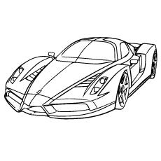 Ferrari clipart coloring page Online Race Ferrari Car 25
