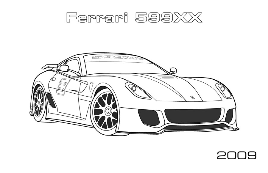 Ferarri clipart coloring page Coloring pages Pinterest Projekty coloring