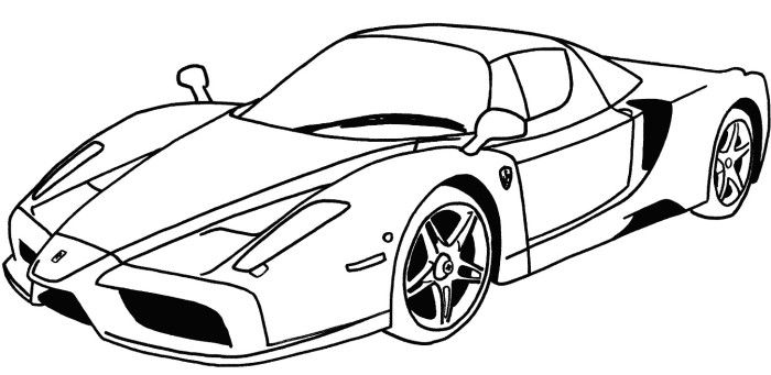 Ferrari clipart coloring page Kirigami to Projects Car Page