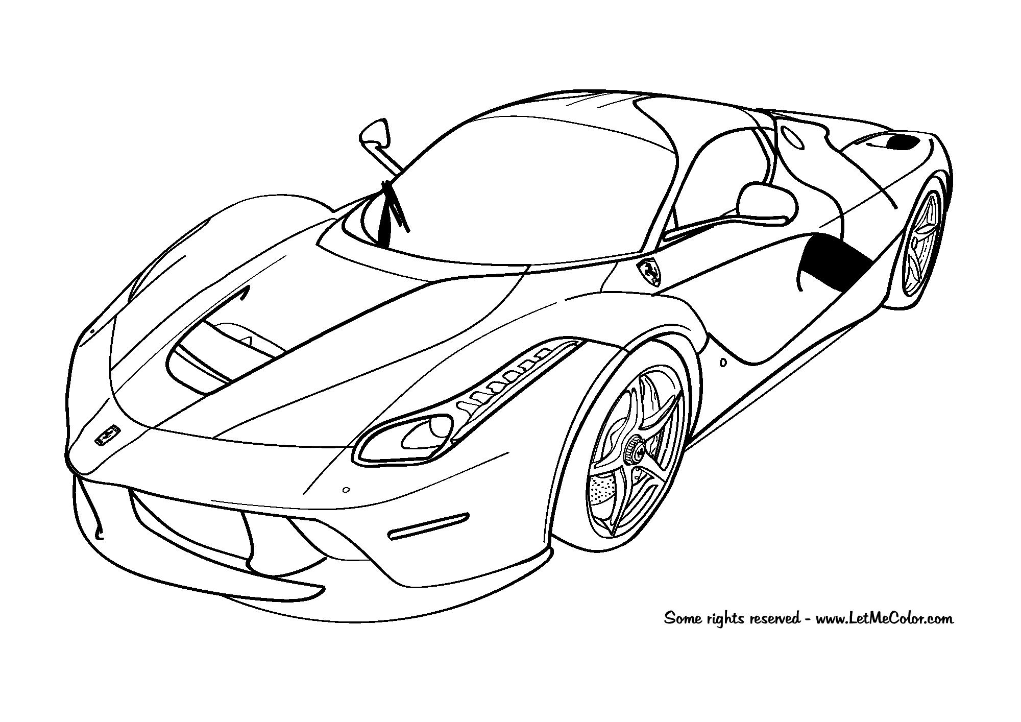 Ferarri clipart coloring page F150 page Ferrari Cars coloring
