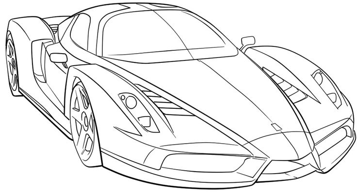 Ferarri clipart coloring page Coloring Coloring Speed Car High