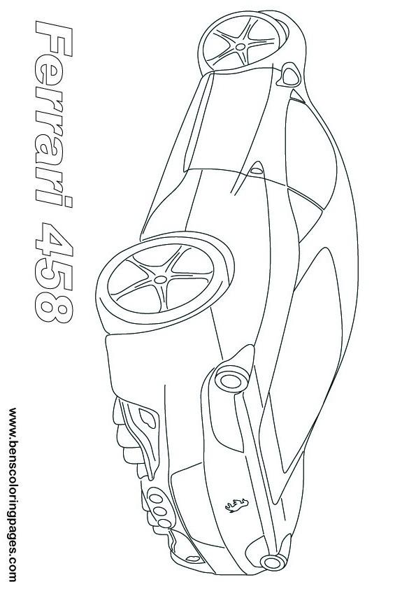 Ferrari clipart colouring page Ferrari 458  458 Ferrari