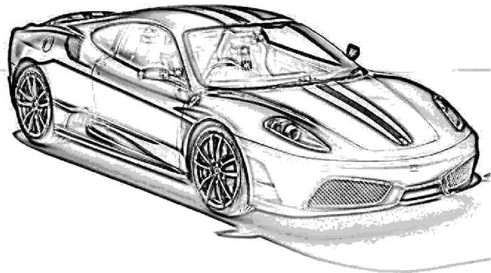 Ferrari clipart colouring page Pinterest Ferrari Best Coloring Scuderia