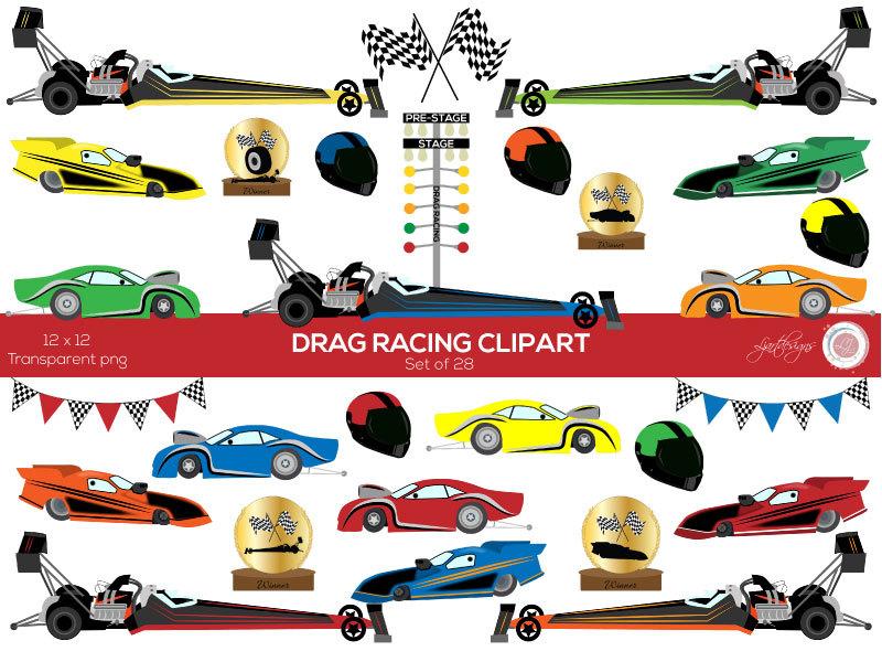 Ferrari clipart drag race car Racing bunting Clipart Etsy Car