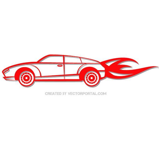 Ferrari clipart fast car Vectors fast Free car Clip
