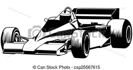 Formula One clipart race car  of Vector Racing