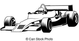 Formula 1 clipart race car Racing Car Outline
