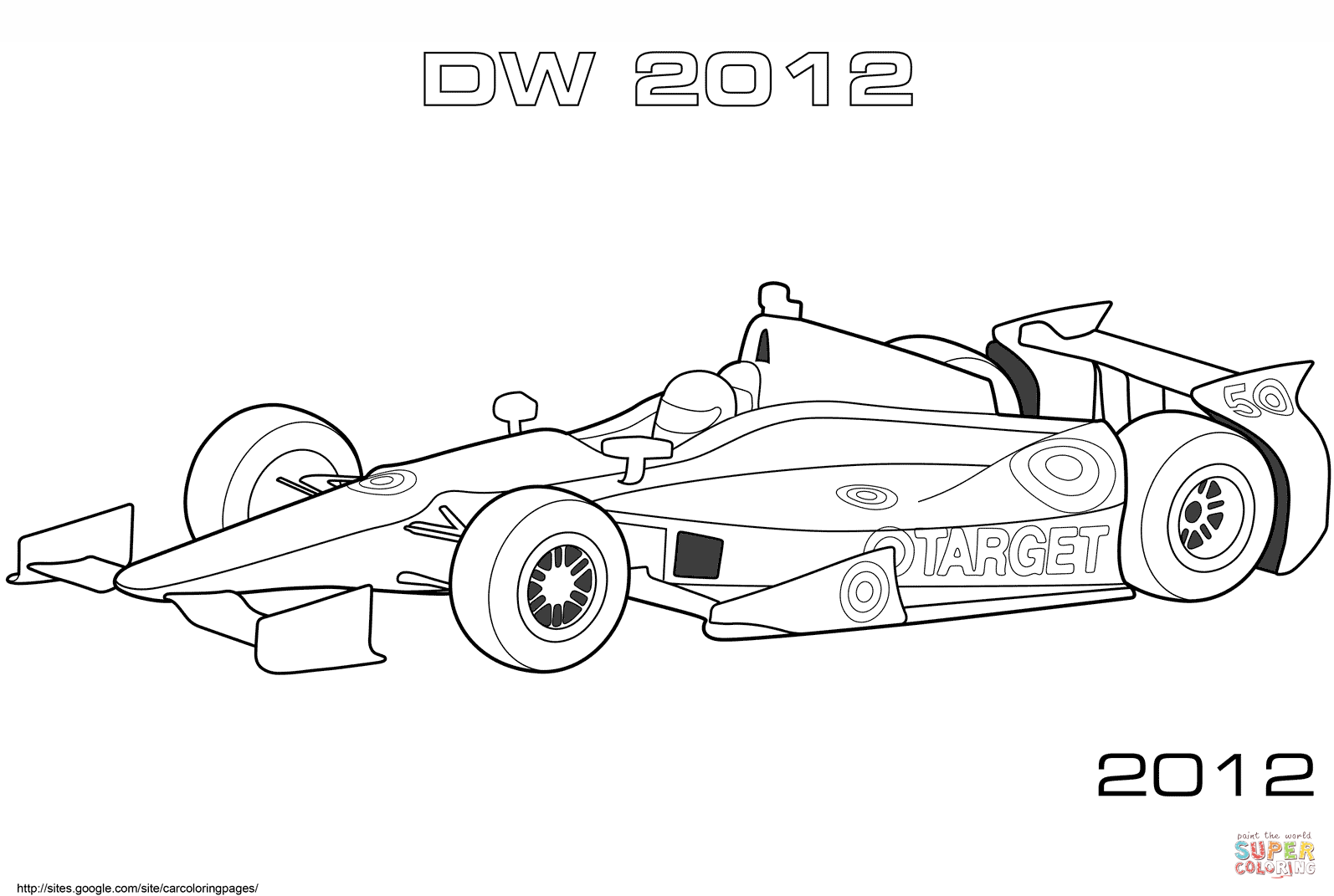 Formula 1 clipart car side Click Coloring page Free Car