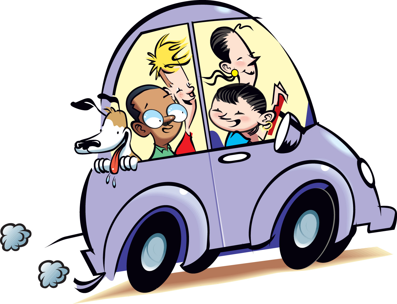Blue Car clipart car ride Panda Primary Car Family Images