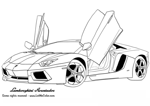 Ferarri clipart lamborghini Pages Aventador to coloring page