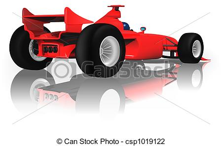 Ferarri clipart cartoon Back Back F1 from F1