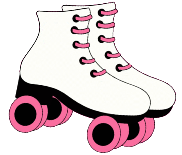 Red clipart roller skate #1