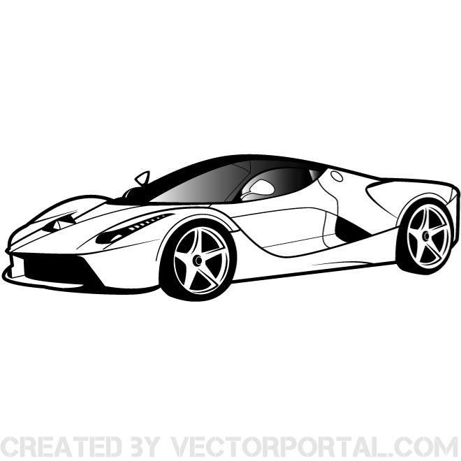Ferarri clipart porsche Clip Luxury art car vector