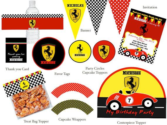 Ferrari clipart racing car FERRARI best Birthday images Party