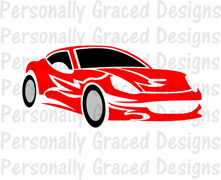 Ferrari clipart racing car EPS svg Cut Car file