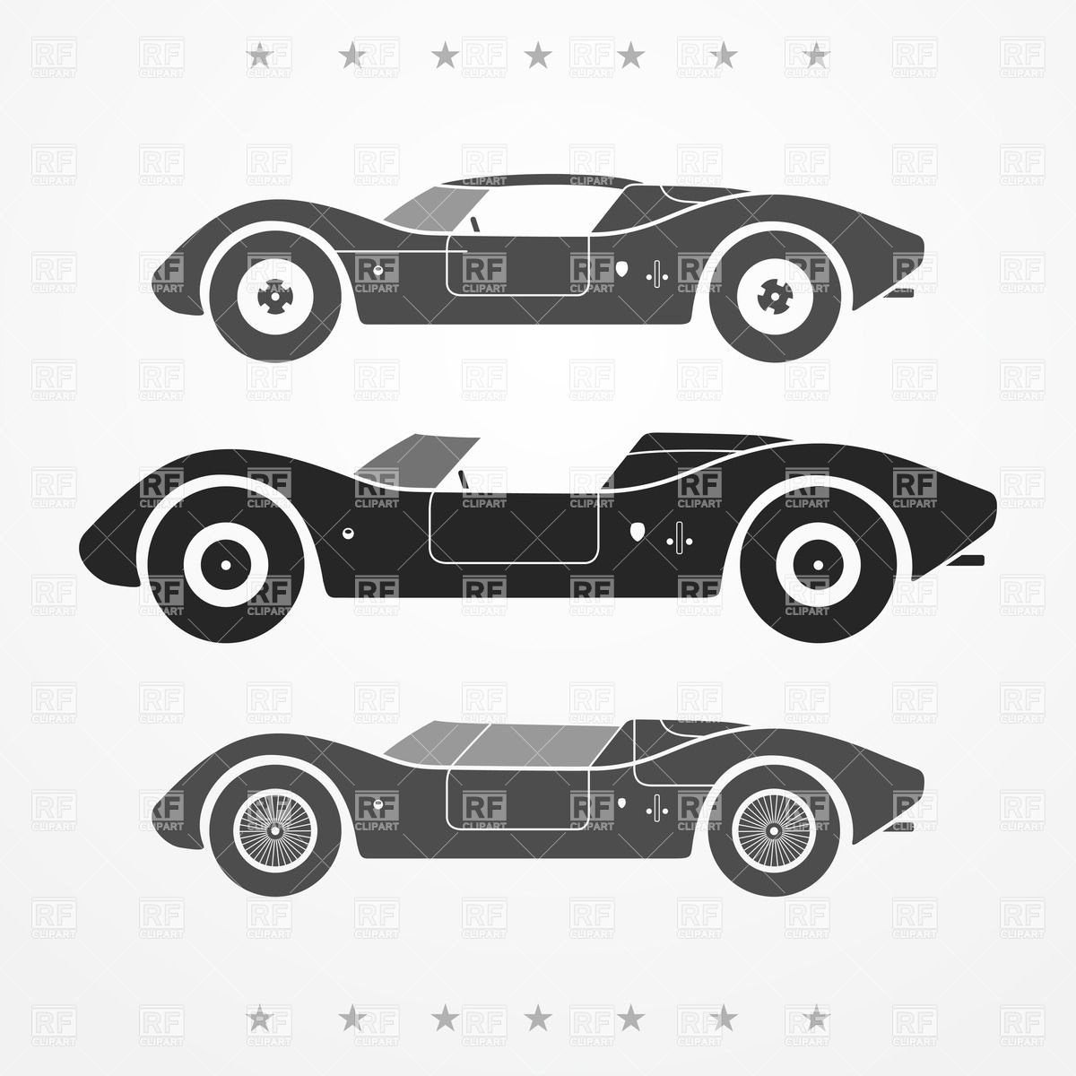 Classic Car clipart racing car Race car silhouette vintage Search