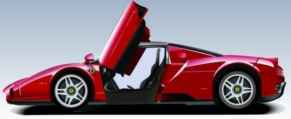 Ferarri clipart racing car Vector for (26 realistic