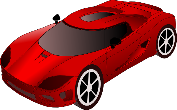 Ferrari clipart side view Art car collection clipart front
