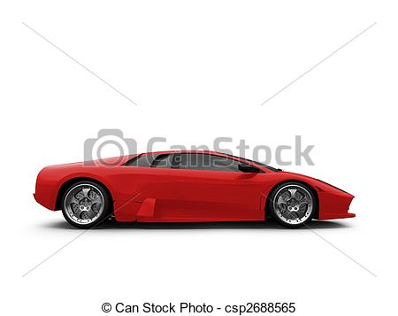 Ferrari clipart side view  red csp2688565 of view
