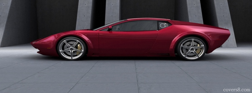 Ferrari clipart side view Facebook Cover Red View View
