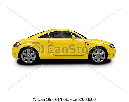 Ferrari clipart yellow Ferrari isolated isolated  isolated