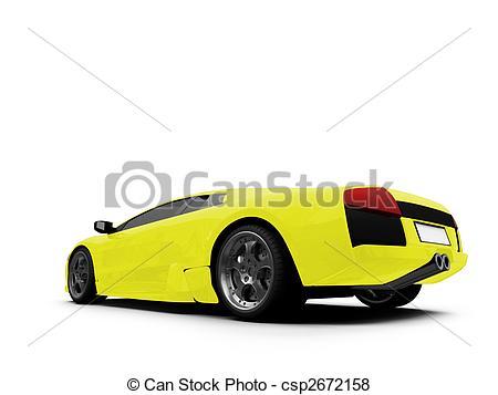 Ferrari clipart yellow View isolated Ferrari yellow csp2672158