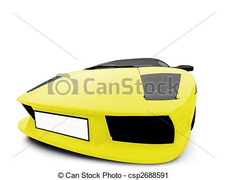 Ferrari clipart yellow View isolated isolated yellow csp2688591