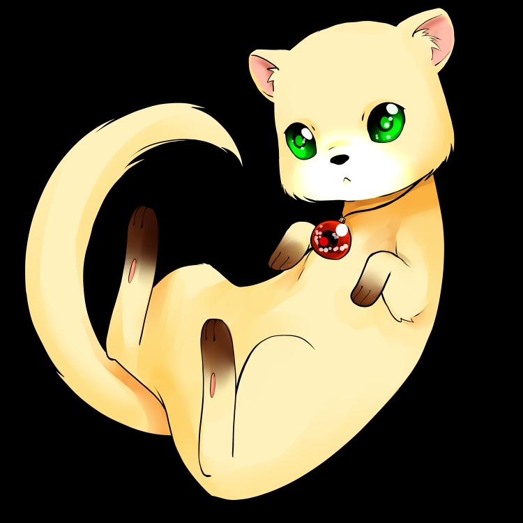 Drawn rodent chibi Pinterest ferret Cuteness ferret Chibi