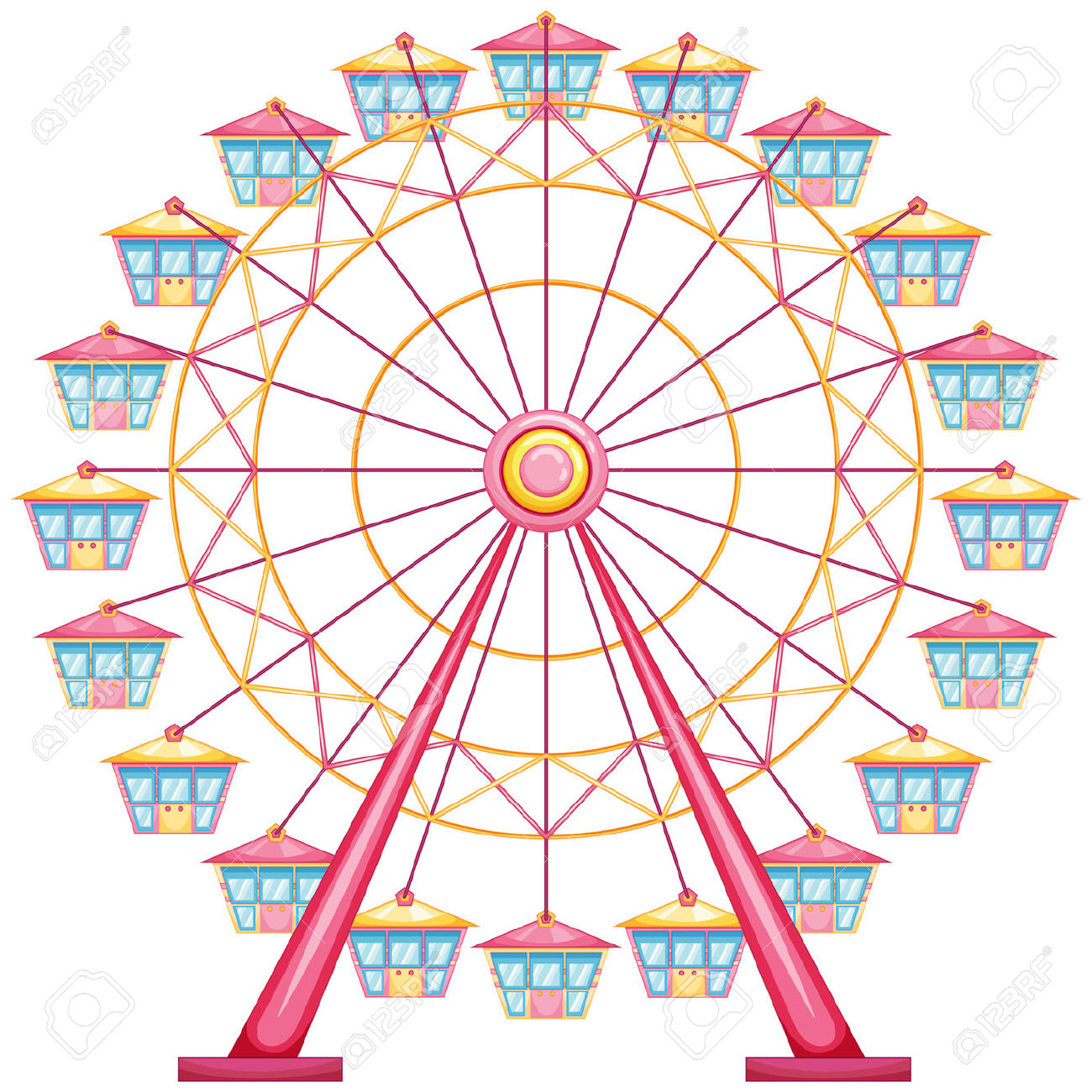 Ferris Wheel clipart #5