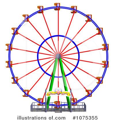 Ferris Wheel clipart By #1075355 Wheel #1075355 Ralf61