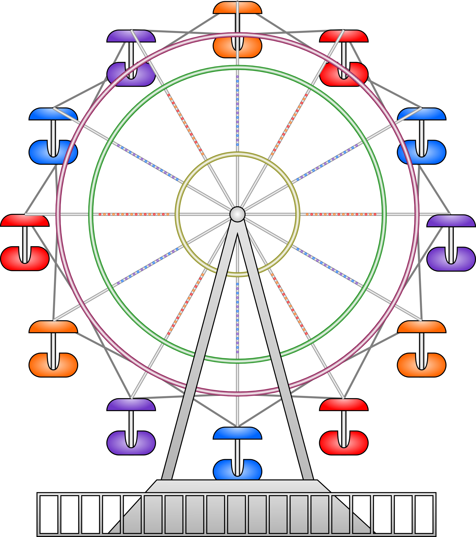 Ferris Wheel clipart #11
