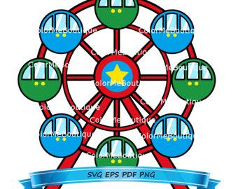 Ferris Wheel clipart Ferris Wheel Etsy wheel Clipart