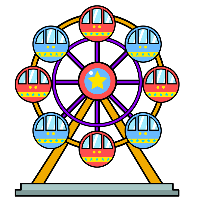 Ferris Wheel clipart #10