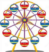 Ferris Wheel clipart #3
