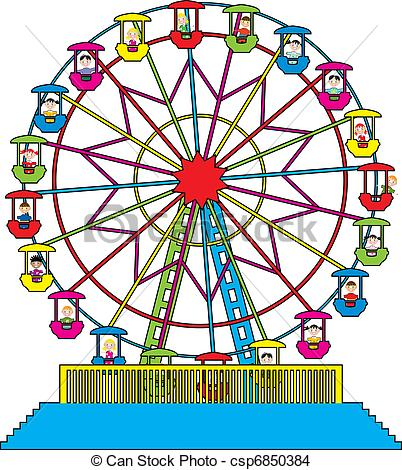 Ferris Wheel clipart kid 444 Illustration  wheel Clipart