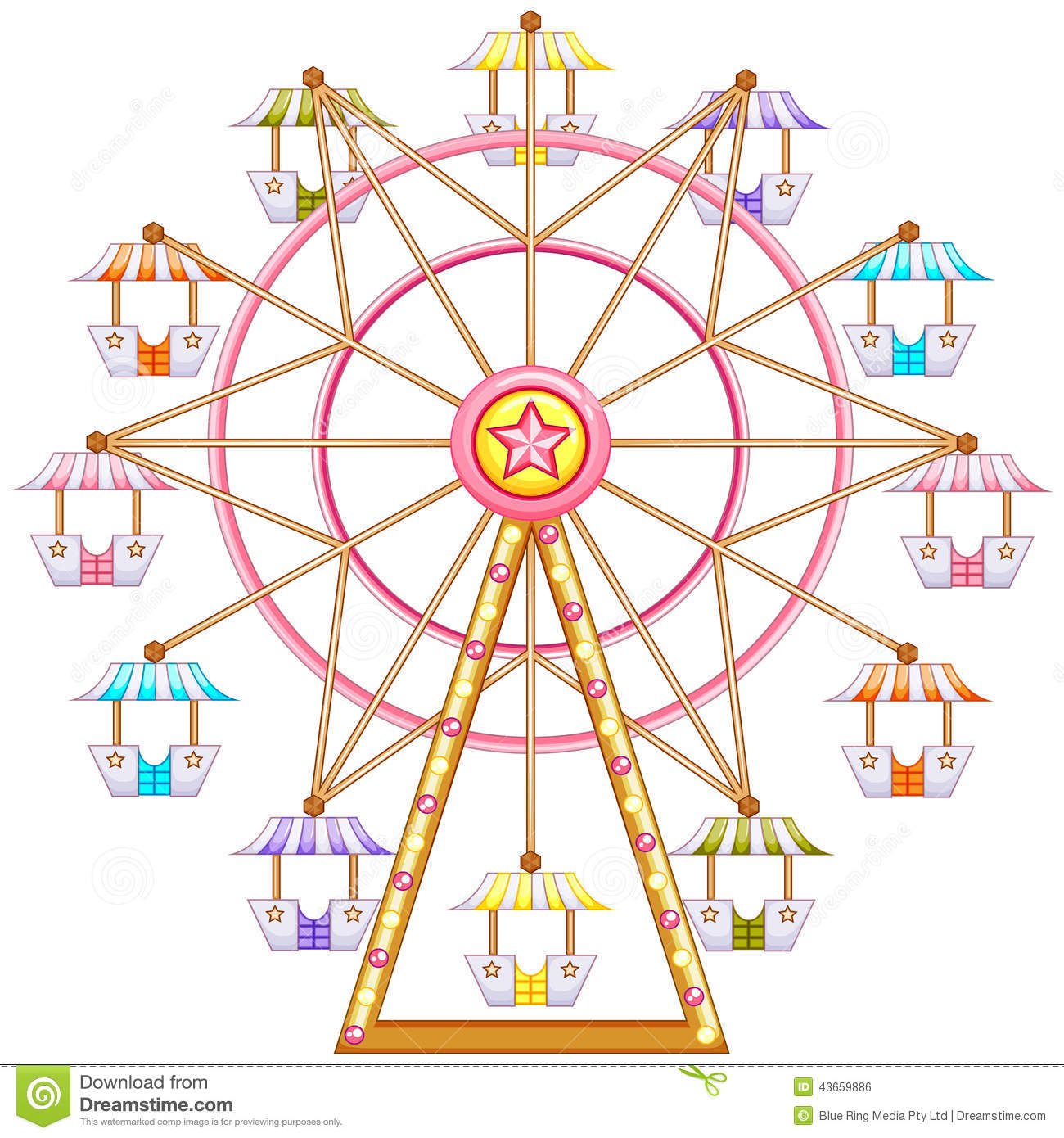Ferris Wheel clipart #9