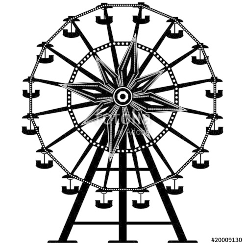 Ferris Wheel clipart amusement park rides #1